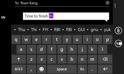 windows phone teclado mango