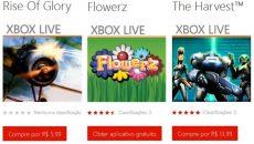 Chegam mais três novos jogos para a Xbox Live