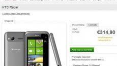 HTC Radar totalmente em português já está à venda em Portugal