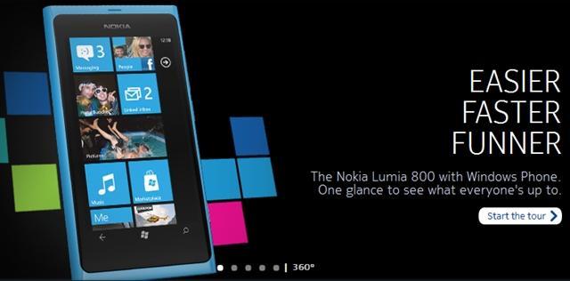 nokia lumia 800 pre venda recorde