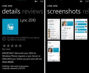 lync app windows phone