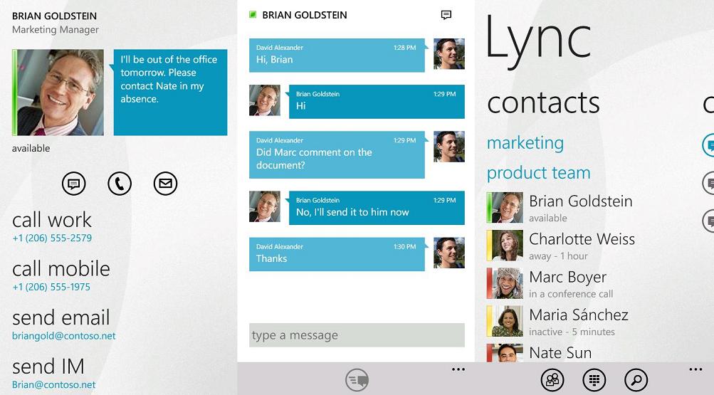 lync app windows phone completo