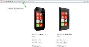 nokia lumia 710 e 800 site windows phone