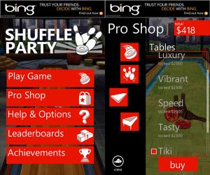Shuffle Party Windows Phone app 4