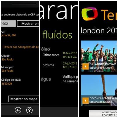 Dicas de aplicativos NACIONAIS para Windows Phone da última semana do mês de julho 2012