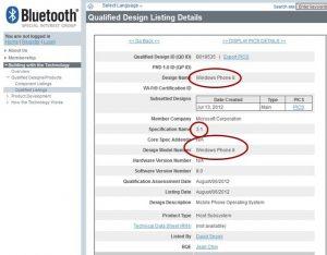 Bluetooth 3.0 windows phone 8