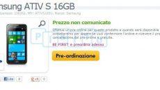 Samsumg Ativ S com WP8 já está disponível em pré-encomenda em alguns sites Europeus