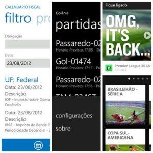 dicas de app quarta semana de outubro wnidows phone 2012