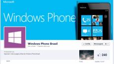 Novos canais oficiais no Facebook e no Twitter do Windows Phone para o Brasil