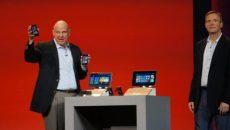 Steve Ballmer mostra os novos Windows Phones e tablets na apresentação da Qualcomm na CES 2013