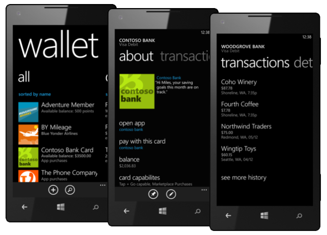 wallet windows phone 8 carteira