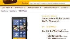 Nokia Lumia 920 disponível em loja online sem ser a da Nokia