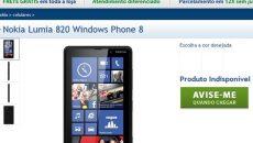 Loja online da Nokia finalmente lista o Lumia 820