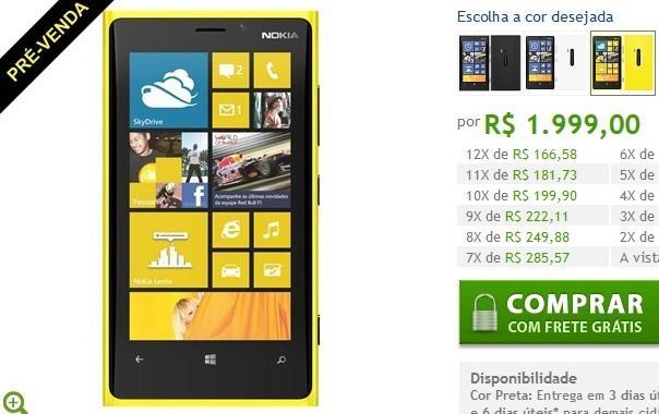 nokia lumia 920 amarelo pre venda jpeg