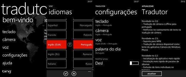 tradutor atualizado suporte portugues windows phone