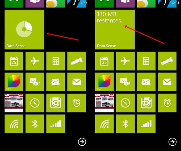 data sense windows phone 8 brasil live tile