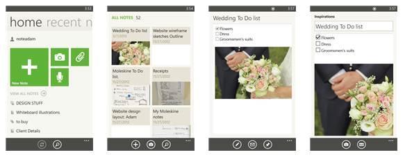 evernote windows phone 7 e 8 app