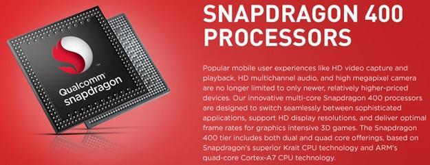 Qualcomm snapdragon 400 windows phone 8 processador