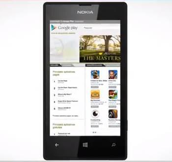 Google Play magazine luiza nokia lumia 520 gafe