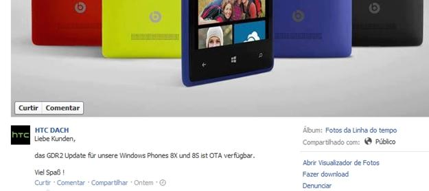 HTC alema confirma gdr2 para htc 8x e 8s