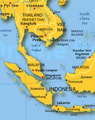 Tailândia, Indonésia e Vietnã