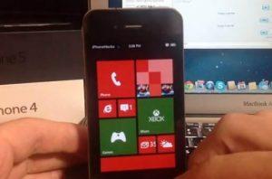 iphoone rodando o windows phone app hack cydia