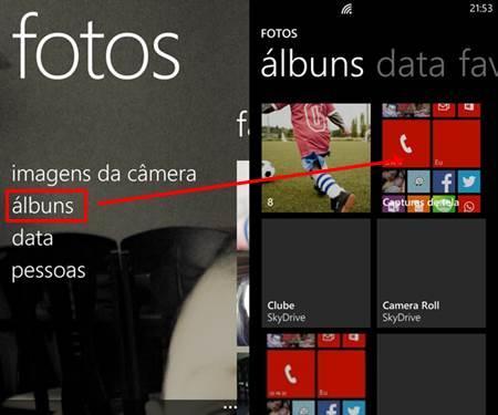 Screenshot windows phone 8 como fazer img hub fotos