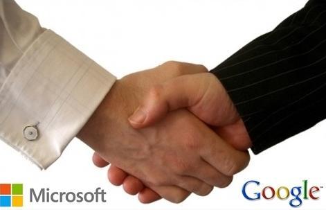 aperto-de-mao google e microsoft