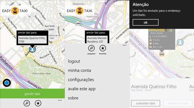 easy taxi para windows phone aplicativo oficial