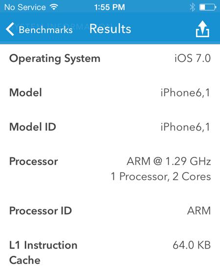 iPHone 5S hardware processador e RAM