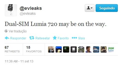 Nokia lumia 720 variante dual sim chip em breve