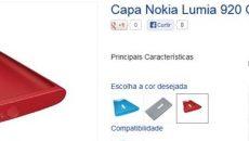 Capinhas coloridas do Lumia 920 disponíveis na loja online da Nokia