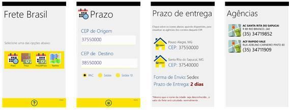 frete brasil app windows phone