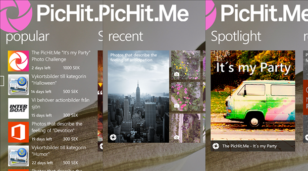 pichitme app windows phone principal 1