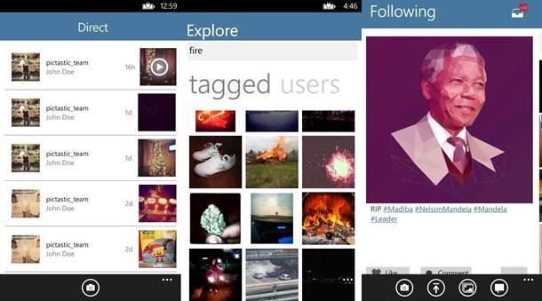 pictastic instagram cliente windows phone img1