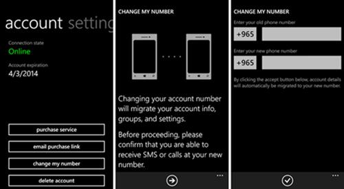 whatsapp migrando numero beta windows phone app