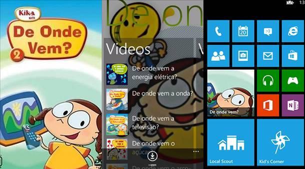 de onde vem app windows phone