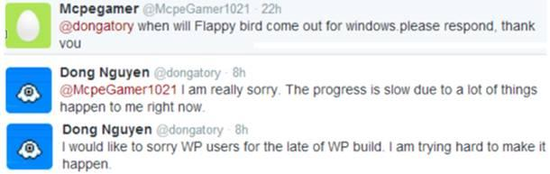 flappy bird windows phone store jogo atraso tweet