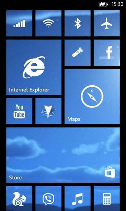 fundo de tela live tile windows phone blue