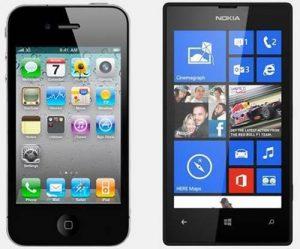 iphone 4 vc nokia lumia 520