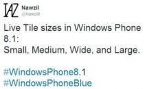 [Rumor] Windows Phone Blue pode adicionar um novo tamanho grande de Live Tile