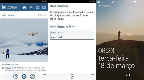 instagram beta tela de bloqueio windows phone
