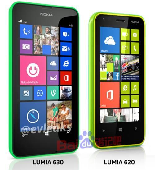 Nokia Lumia 630 lumia 620 lado a lado