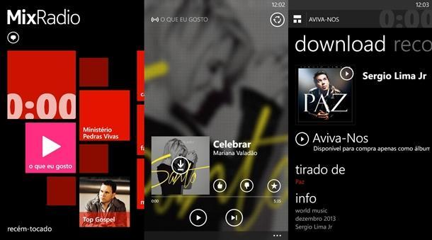 Nokia MixRadio app windows phone