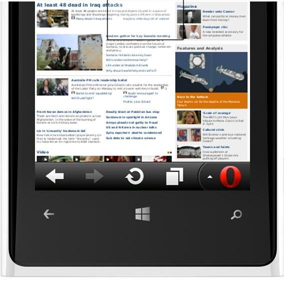 opera mini app windows phone