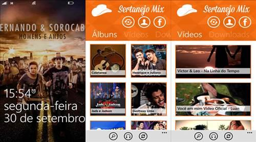 sertanejomix app windows phone