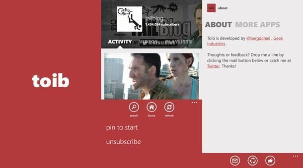 toib youtube player app windows phone img1