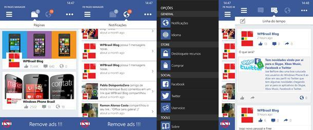 fb pages manager app windows phone