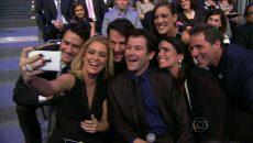 Vários atores da Globo participaram de um selfie usando um Lumia 920 durante evento da emissora