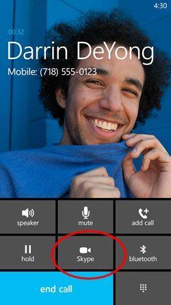 Skype integrado windows phone 81